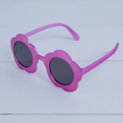 Kids Metallic Flower Sunglasses