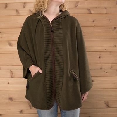 Olive Pleated Faux Suede Detail Wrap
