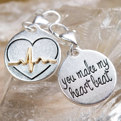 """You Make My Heart Beat"" Charm"