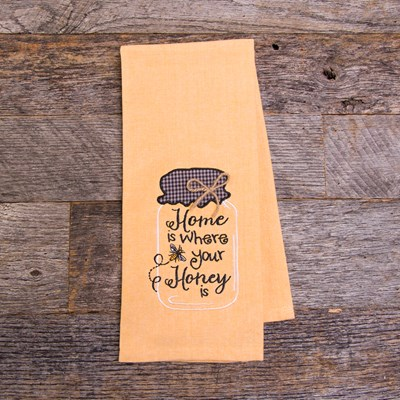 """Home Is Where Your Honey Is"" Kitchen Towel"