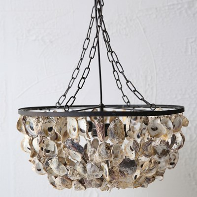 Round Oyster Shell Pendant Chandelier