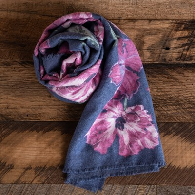 Soft Floral Scarf