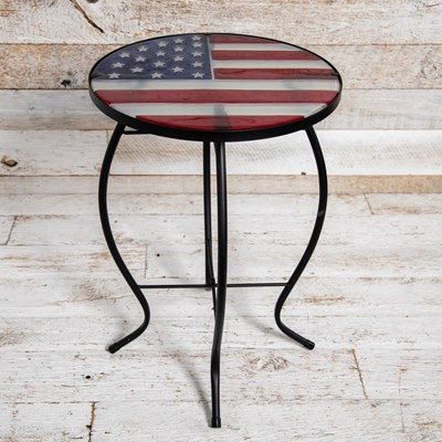 USA Flag Side Table