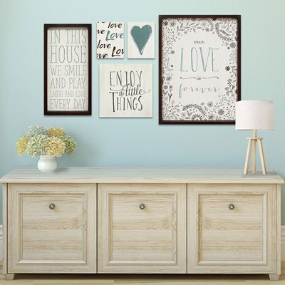 Love is Forever Wall Art - Set of 5