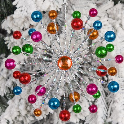multi color starburst ornament