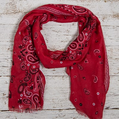 Pais Red Oblong Scarf