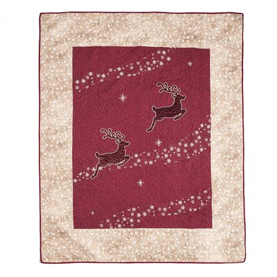 Red Reindeer Throw