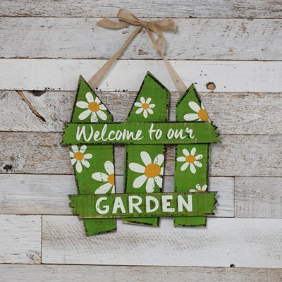 Welcome To Our Garden Hanging Sign