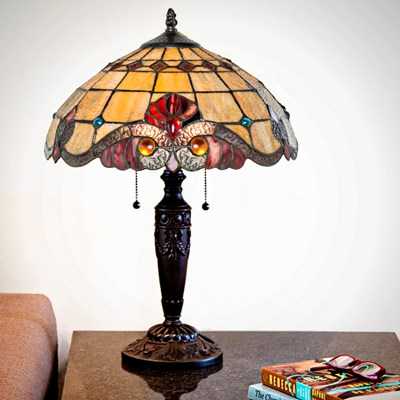 Tiffany Style Stained Glass Vivaldi Table Lamp