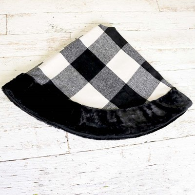 Black and White Plaid Tree Skirt