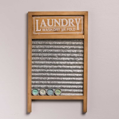 Washboard Magnet Board with Magnets