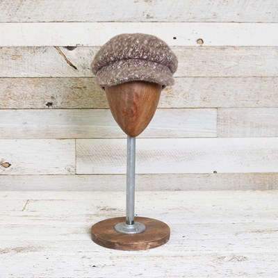Fuzzy Neutral Cabbie Hat