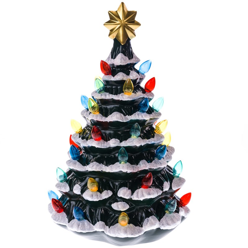 18 light up ceramic christmas tree 0