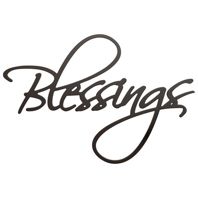 """Blessings"" Typography Wall Decor"