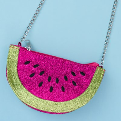 Kids' Glitter Watermelon Purse