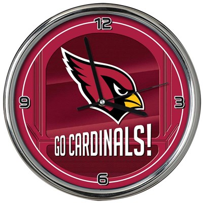 Arizona Cardinals Chrome Wall Clock