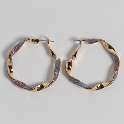 Glitter Paper Hoop Earrings