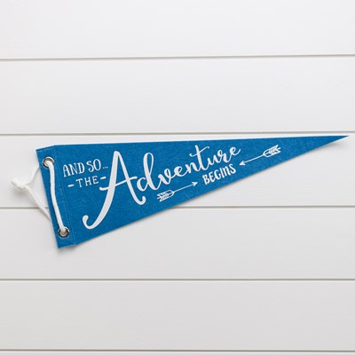 Felt Pennant Decor - Blue