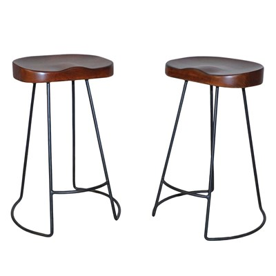 Industrial Tractor Seat Counter Stool - Set of 2