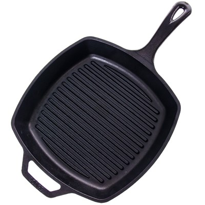 "Lodge ® 10.5"" Square Cast Iron Grill Pan"