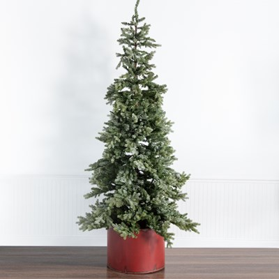 9' Pre-Lit Icy Christmas Tree with Bucket