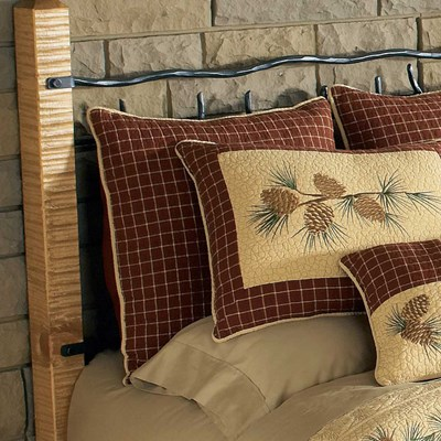 Pine Lodge Plaid Euro Sham by Donna Sharp