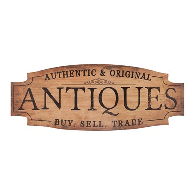 """Antiques"" Vintage Signature Sign"