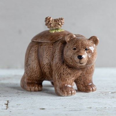 Stoneware Bear Cookie Jar