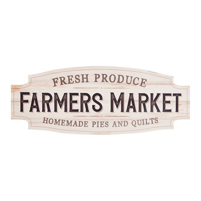 """Farmer's Market"" Vintage Signature Sign"