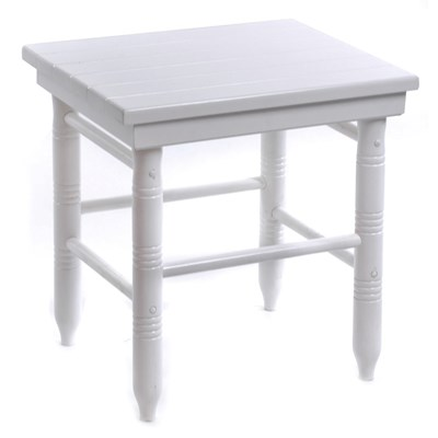Round-Leg Side Table - White