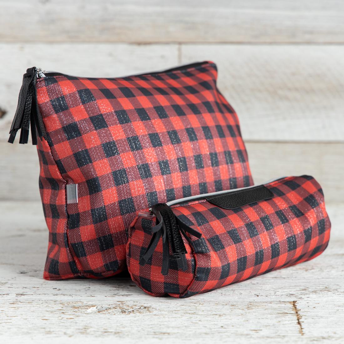 1535900765ada Buffalo Plaid 2-Piece Travel Bag Set