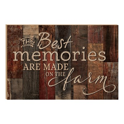 """The Best Memories"" Carved Barn Board Wall Decor"