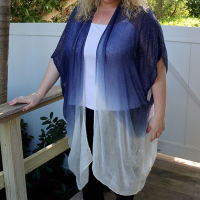 Ombre Sparkle Cocoon Shawl