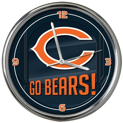 Chicago Bears Chrome Wall Clock