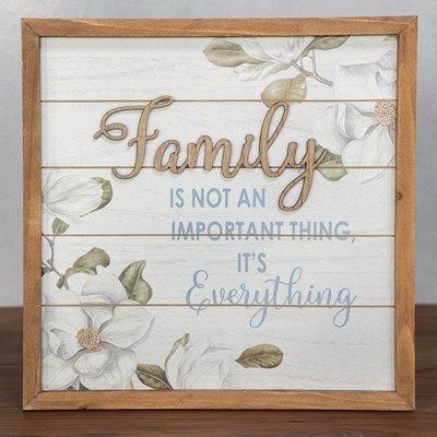 Family is Everything Wall Decor