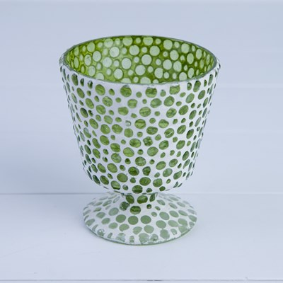 Mosaic Glass Votive Holder