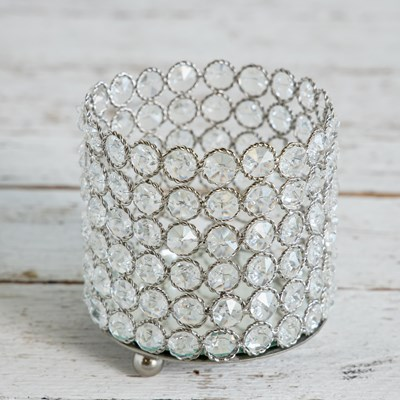 Crystal Beaded Candle Holder - Large