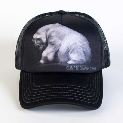 """Climate Change Is Real"" Polar Bear Trucker Hat"