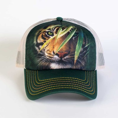 Emerald Forest Tiger Trucker Hat