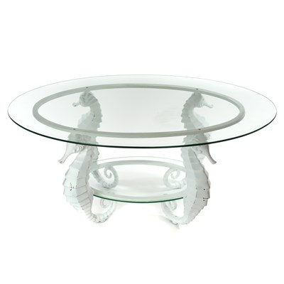Aluminum Seahorse Coffee Table