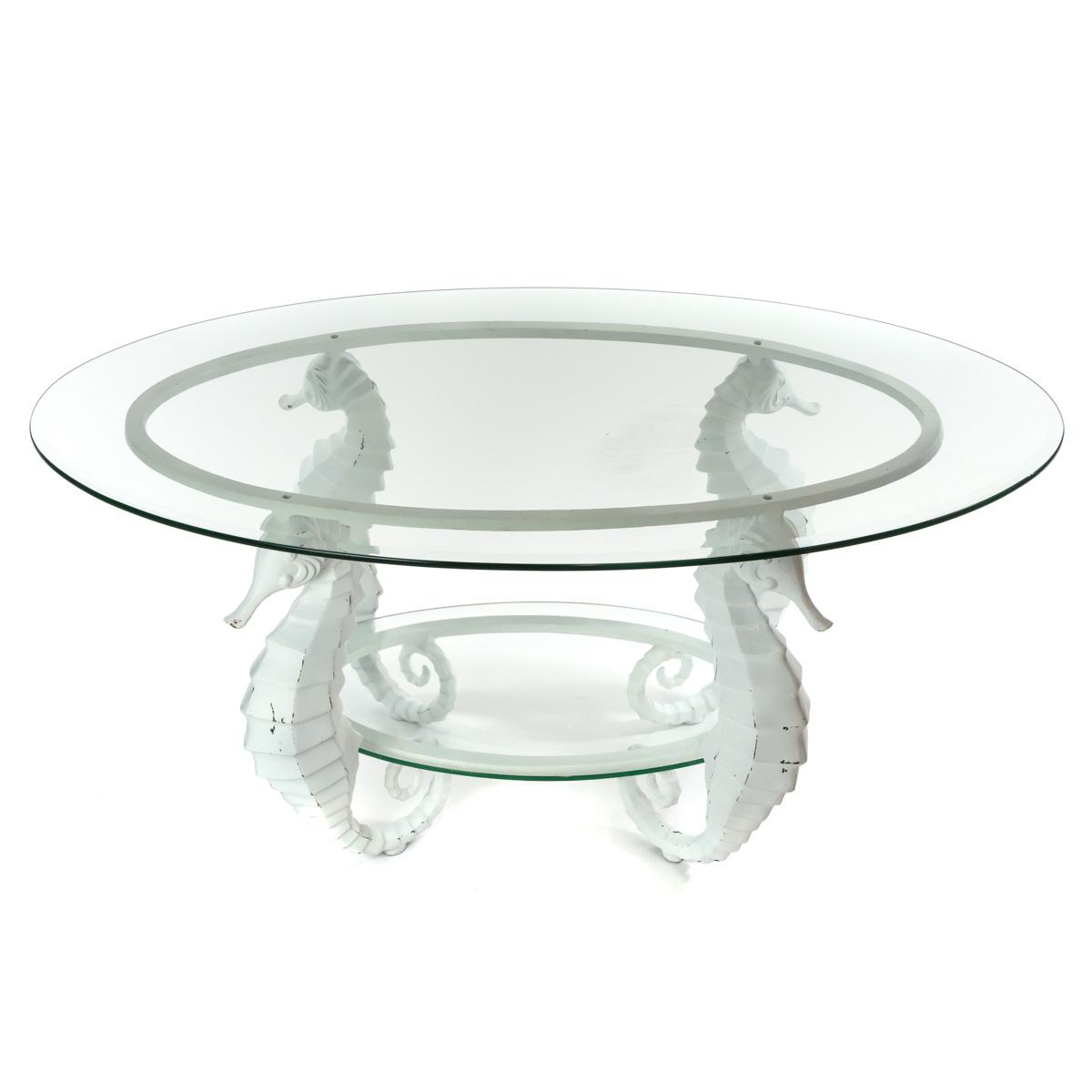 Aluminum Seahorse Coffee Table