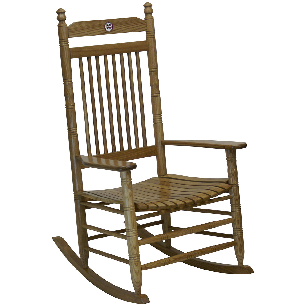 Hardwood Rocking Chair   Mississippi StateHardwood Rocking Chair    Mississippi State ...