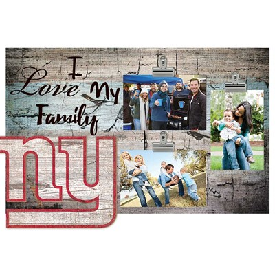 New York Giants - I Love My Family Clip Frame