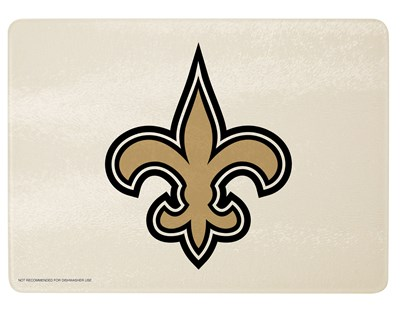 New Orleans Saints Glass Cutting Board