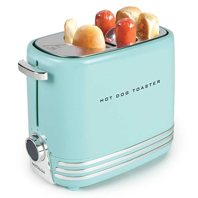 2-Slot Hot Dog Toaster - Aqua