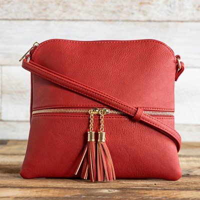 Red Crossbody with Zipper
