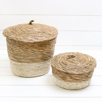 Straw Baskets - Set of 2