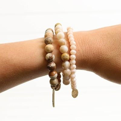 3 Piece Beaded Stretch Bracelet Set