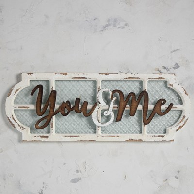 You and Me Framed Glass Wall Decor