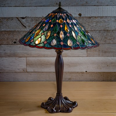 Jewel Stained Glass Lamp